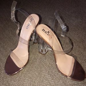 NEW IN BOX Clear Perspex Heels